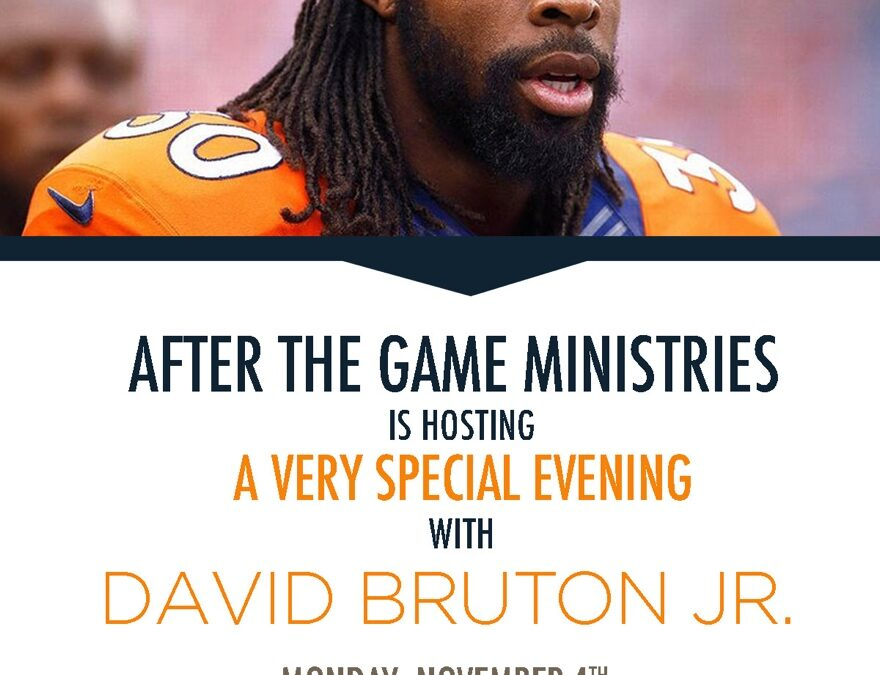 Come hear David Bruton November 4th